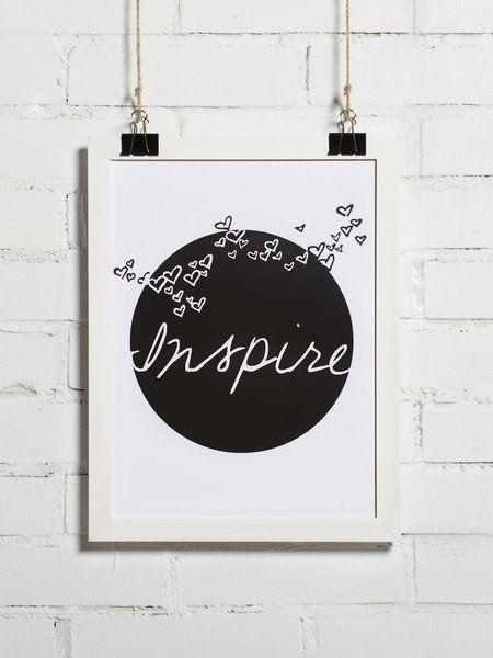 Plakat - Inspire 30x40 cm (+inne rozmiary) - BonzooBox - Plakaty typograficzne