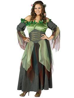 Womens Plus Size Mother Nature Costume   Cheap Fairy Halloween Costume for Plus Size Costumes