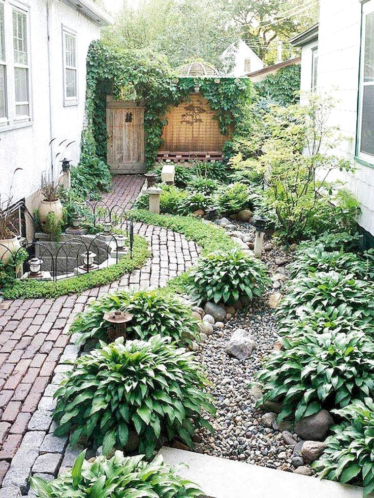 70 Favourite Side House Garden Landscaping Decoration Ideas With Rocks   #SideHouseGardenLandscaping