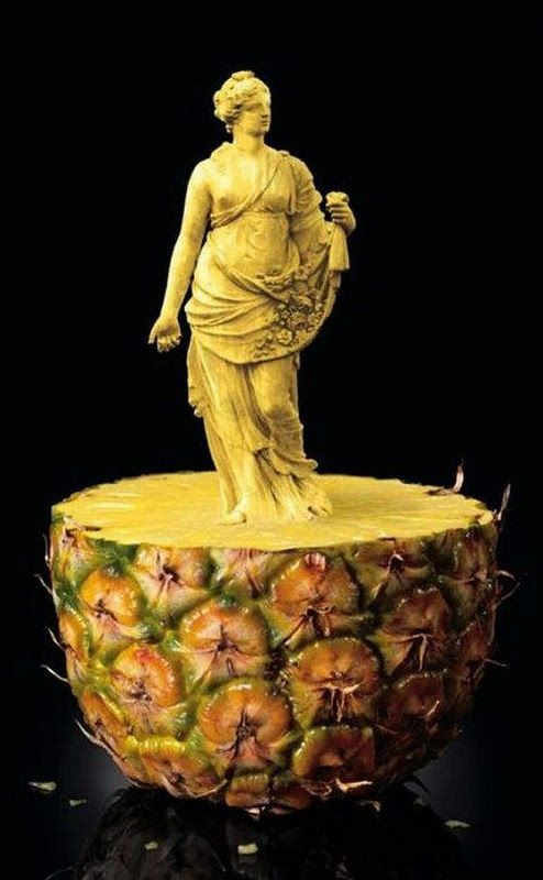 Amazing Food Art | Amazing food art...or great photoshop: Sculpture, Food Carving, Fruit Carving, Edible Art, Pineapple, Fruit Art, Foodart, Food Art
