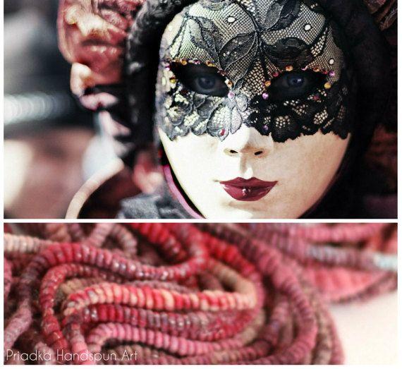 VENICE BORDÓ Handspun superfein merino merino wool