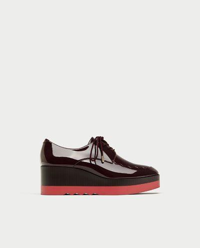 BLUCHER PLATAFORMA-Zapatos planos-ZAPATOS-MUJER   ZARA España