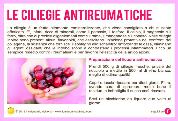 Le ciliegie antireumatiche