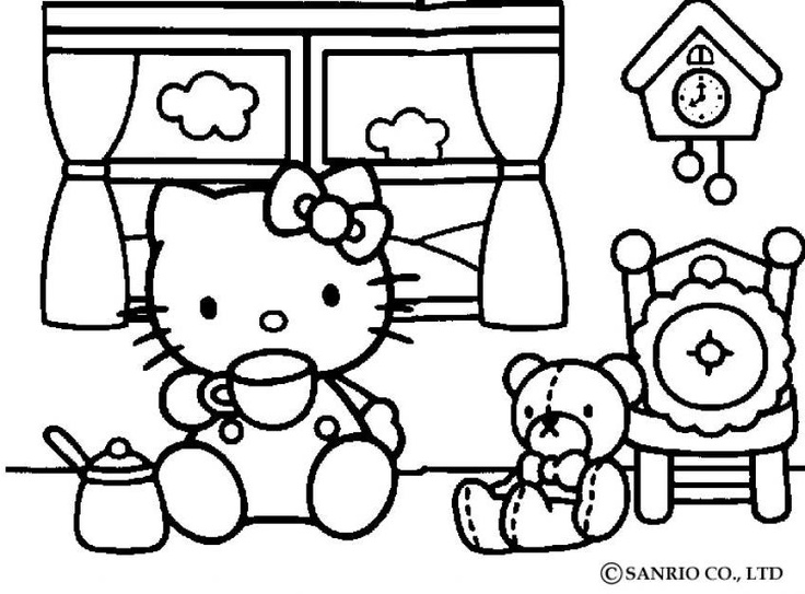 Hello Kitty Parties Party Free Prints Coloring Pages Colouring Sheets Adult Books Kid