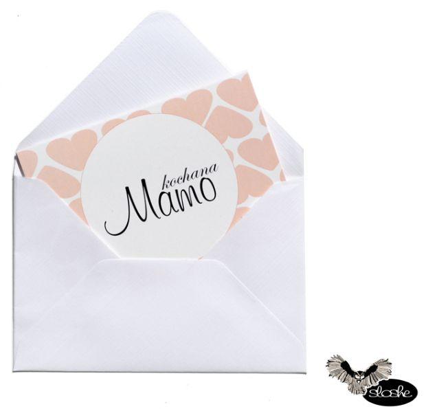 """Bilecik """"Kochana Mamo"""" z  wpisem """"Jesteś najlepszą mamą na świecie"""""""