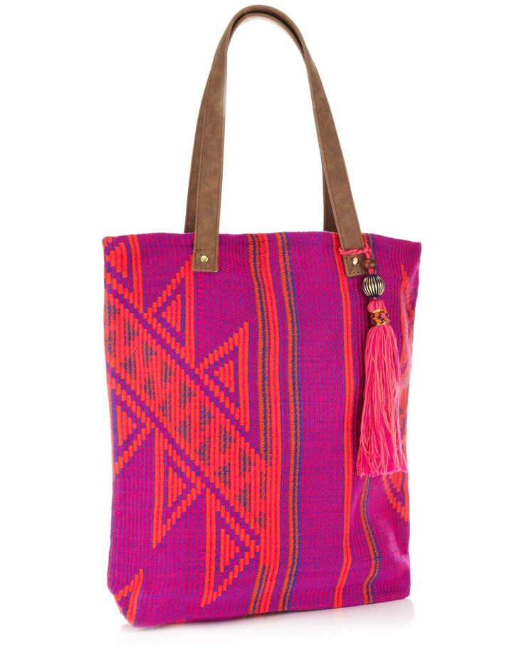 Neon Tote - Pink and Orange