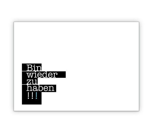 """Post Trennungs Klappkarte: """"Bin wieder zu haben"""" - http://www.1agrusskarten.de/shop/post-trennungs-klappkarte-bin-wieder-zu-haben/    00000_10_402, Scheidungskarte, Spruch, Trennung00000_10_402, Scheidungskarte, Spruch, Trennung"""