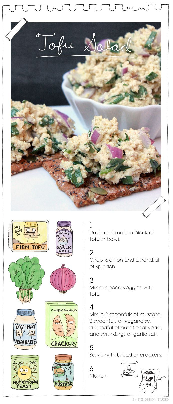 Tofu Salad. More recipes at: TheVeganStoner.com