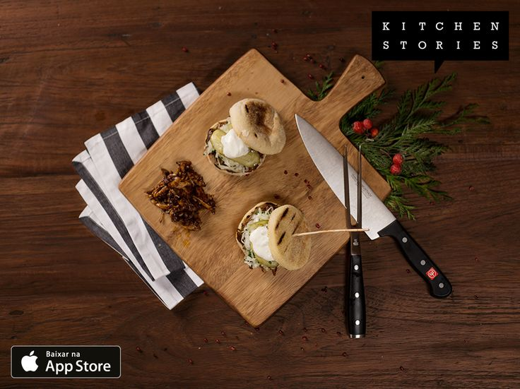 """Estou cozinhando """"Sanduíche de porco desfiado"""" com @1Kitchen Stories – Baixar Grátis http://itunes.apple.com/app/id771068291"""
