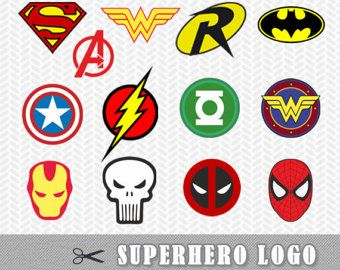 Superhero Logo Svg Dxf Vector File Silhouette Cricut Flash
