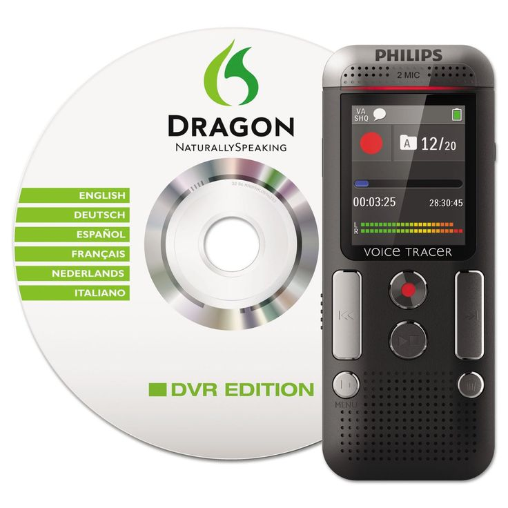 Philips Voice Tracer DVT2700/00 Digital Voice Recorder, Black