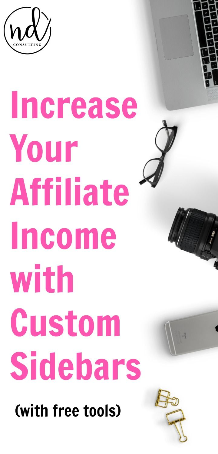 In this quick, free tutorial, you'll learn how you can increase affiliate income with custom sidebars. And, you'll get easy affiliate link management with free tools! #winning #affiliatemarketing #blogging101 https://ndcfullcircle.com/affiliate-income-custom-sidebars/?utm_campaign=coschedule&utm_source=pinterest&utm_medium=ND%20Consulting%20-%20Blog%20to%20Business&utm_content=You%20Can%20Increase%20Affiliate%20Income%20With%20Custom%20Sidebars #affiliatemarketing #bloggingtips