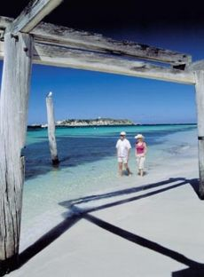 Remains of the famed Hamelin Bay Jetty