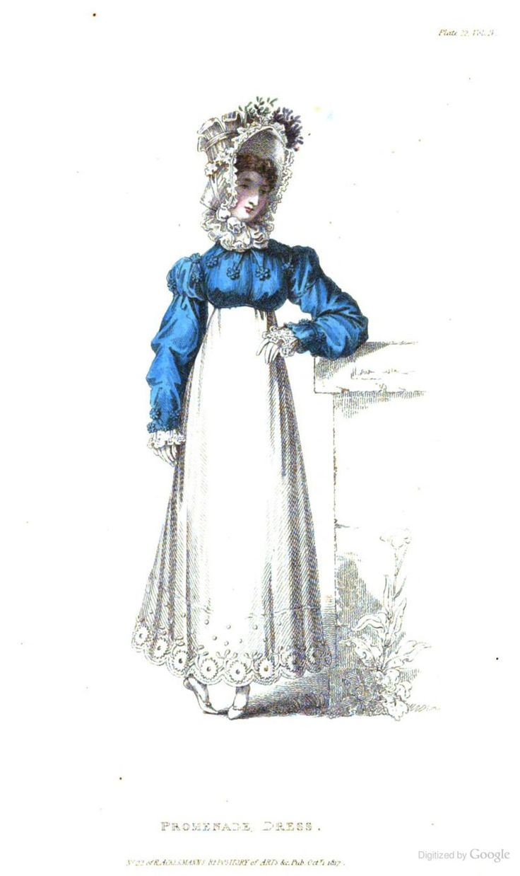 Promenade Dress from from Ackermann's Repository of the Arts October 1817