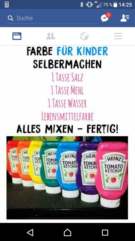 Anleitung Farbe für Kinder selbst mischen – Nicole Göß