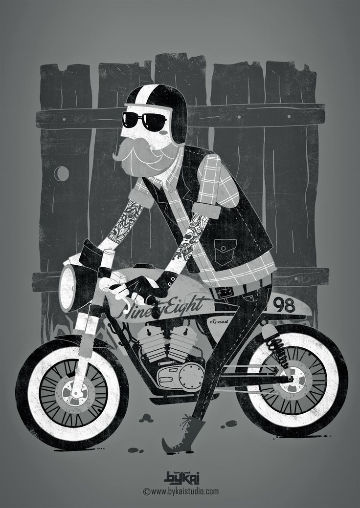 Design by Bykai Studio #illustration #design #motorcycles #motos | caferacerpasion.com