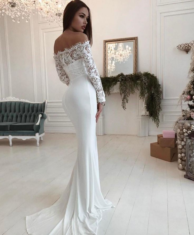 The Lace, long sleeved SHAID gown Evening Gown / Formal Dress / Prom Dress / Maxi Dresses / Unique Dress / pageant dress / mermaid dress