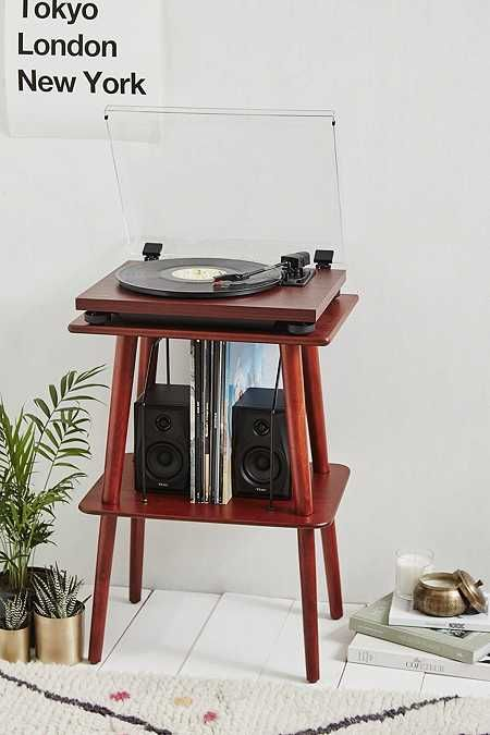 Teac TN-100 Cherry Vinyl Record Player with Speakers