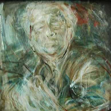 Self portrait by William Dobell (c.1970) via LMacG,
