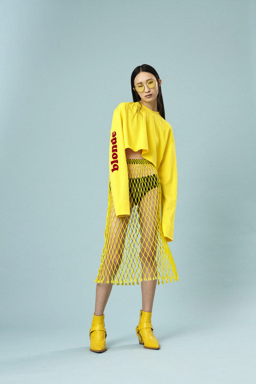 GCDS x The Blonde Salad top,MSGM skirt,Triumph underwear,Erika Cavallini boots,Spektre x The Blonde Salad sunnies.