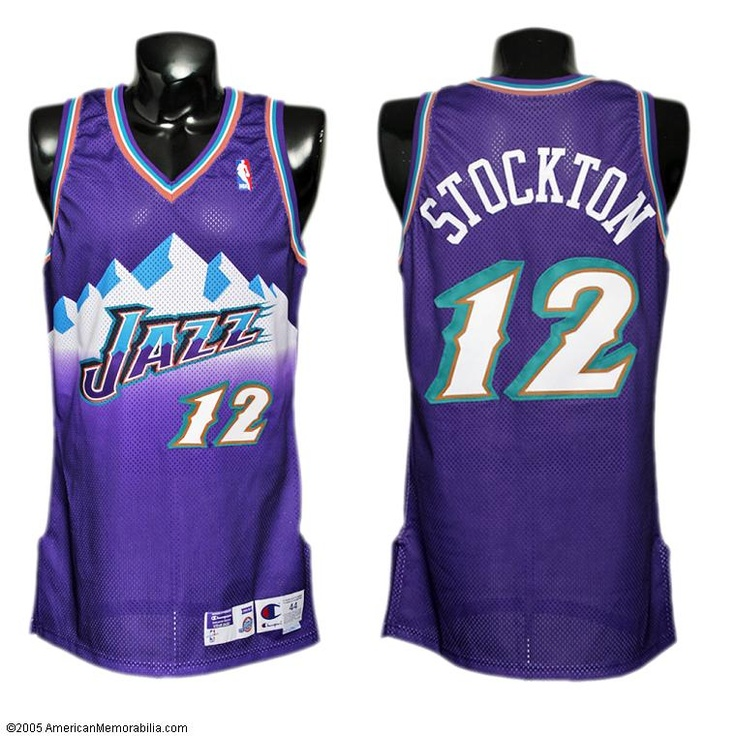 the best attitude 73da4 da8c2 john stockton jersey mountains purple
