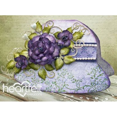 Gallery | Purple Rose Hat Card - Heartfelt Creations                                                                                                                                                                                 More