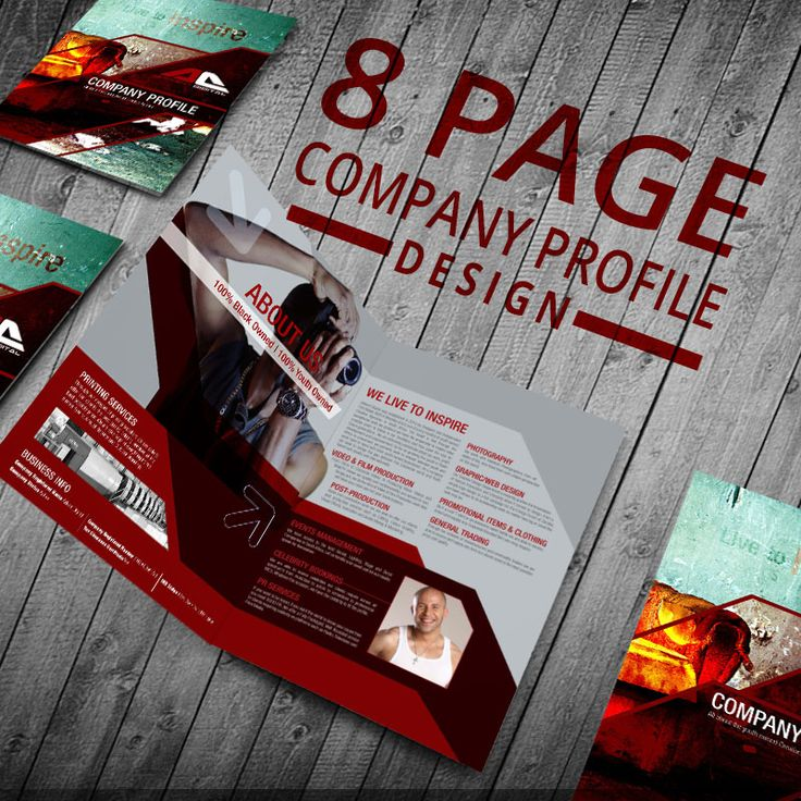 An Affordable, Professionally Designed 8 Page Company Profile to WOW you potential clients and investors.