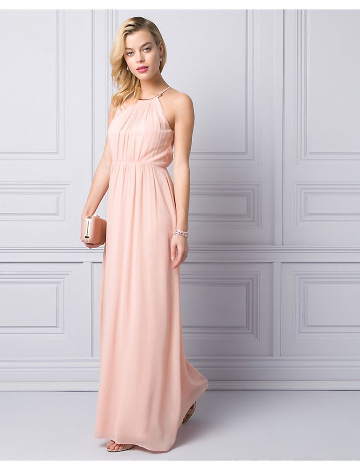 Le Chateau | Chiffon Halter Gown in Opal