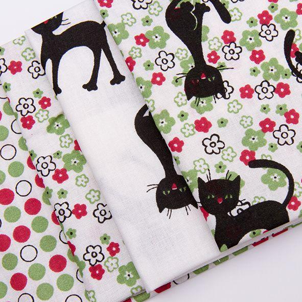 Balíček látek malý kočky 4 x 28 cm x 32cm