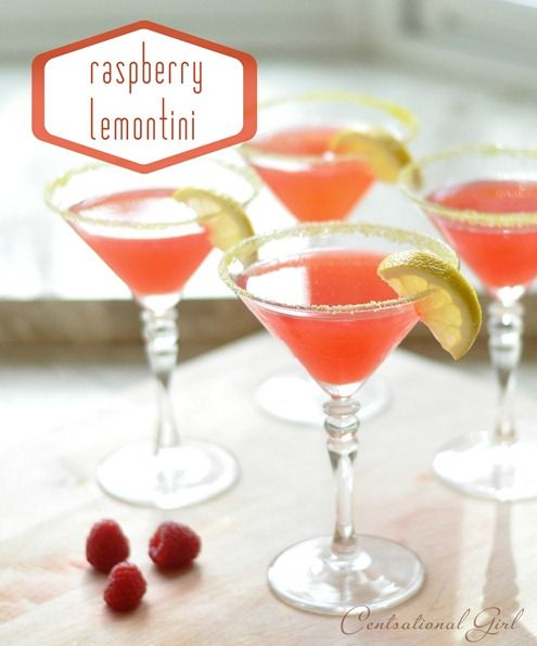 nice summer cocktail: Happy Hour, Fun Recipes, Raspberry Lemontini, Beverage, Food, Cocktails, Favorite Recipes, Drinks, Raspberries