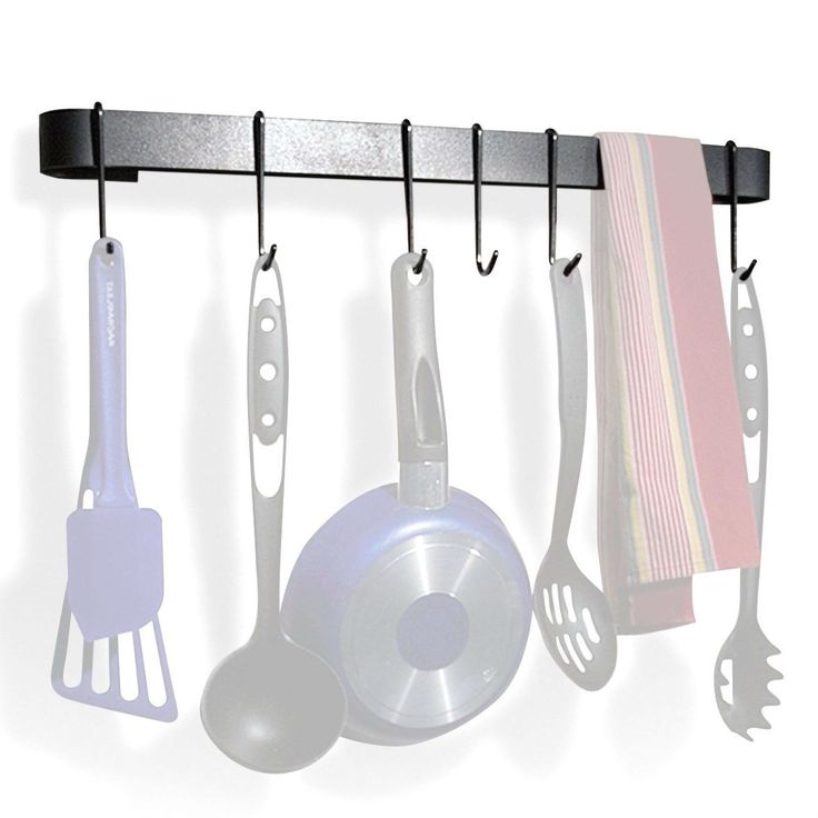 Wall Mounted Kitchen Pot Rack With 8 Hooks Amp Drywall