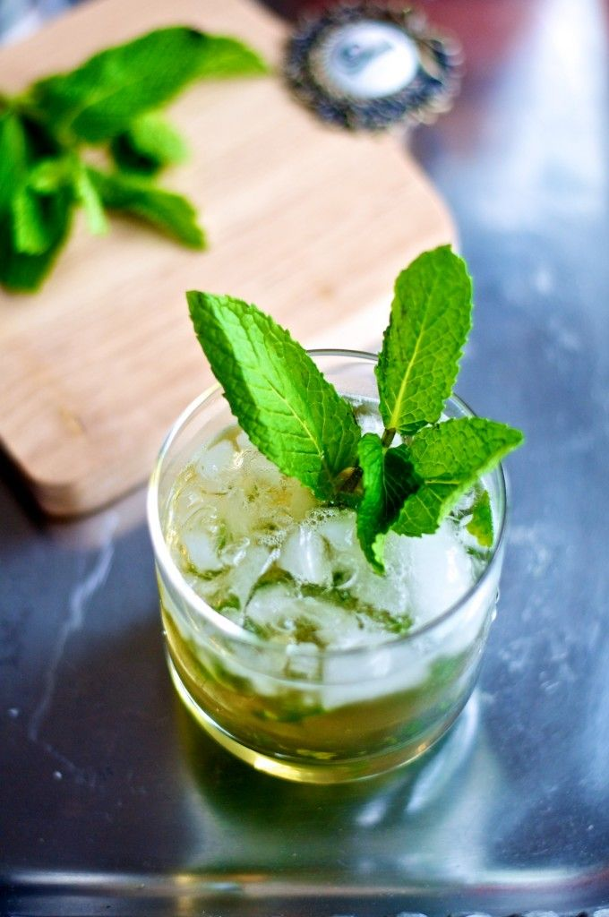 Mint Julep, essential to Derby party, this recipe was easy and good ( I will admit, I almost doubled the amount of simple syrup though :)