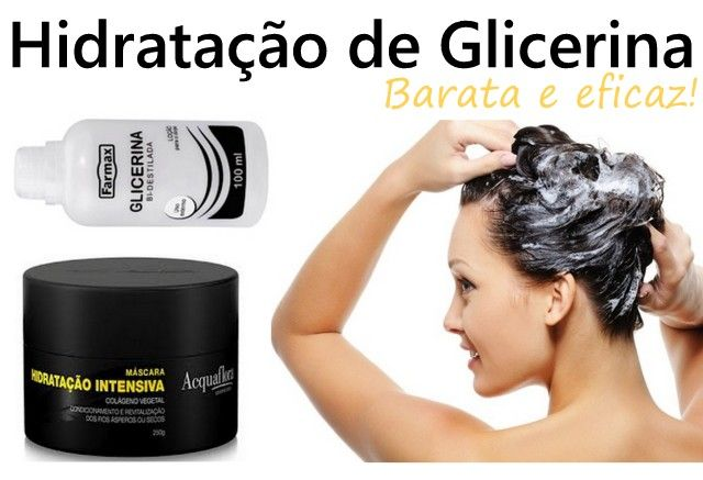 Hidratação de glicerina: uma opção boa e barata pra hidratar o cabelo! A glicerina é uma hidratação caseira das boas, do tipo que faz diferença no cabelo!