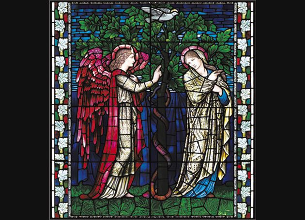 Winchester Cathedral Stained Glass. William Morris. The Annunciation.