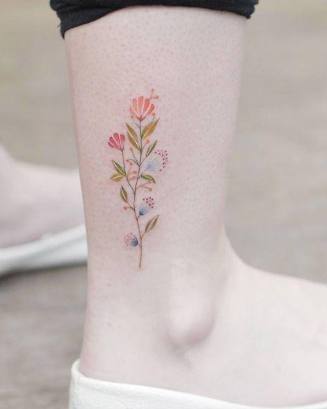 ramillete de flores colorido por Tritoan Ly