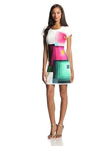 Desigual Women's Dani Sleeveless Dress, White, X-Large from Desigual Cyber  Monday Black Friday
