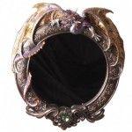Miroir rond design dragon - Collection Dark Legends
