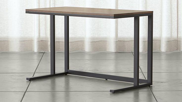 Pilsen Graphite Desk With Walnut Top Work Desk