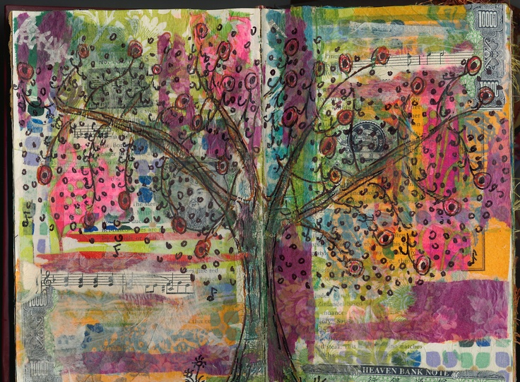 Art Journal page- Tree of Life