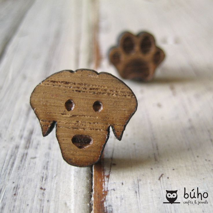 Dog laser cut earrings