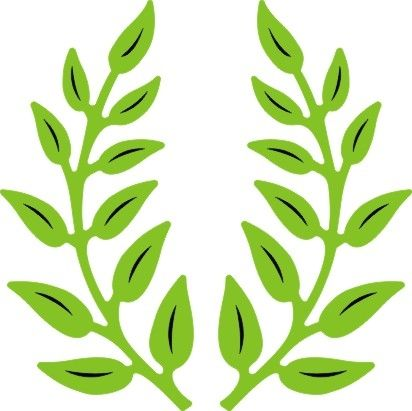 """CHEERY LYNN DESIGNS - B147 - OLIVE BRANCHES          Set of TwoTwo 2"""" x 1""""(48mm x 24mm) mirrored branches Weight: 0.02 lbs"""