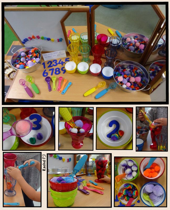 """Counting and sorting 'ice cream scoops' from Rachel ("""",)"""