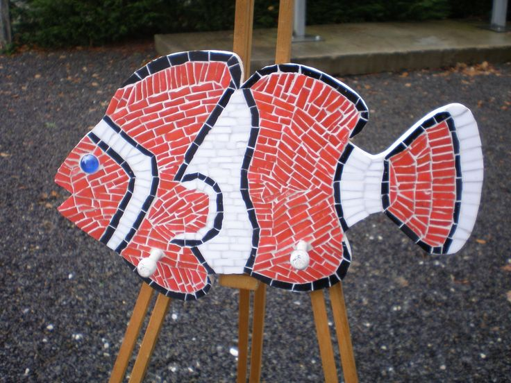 Porte manteau poisson mosaique : Chambre d'enfant, de bébé par mosali-creation