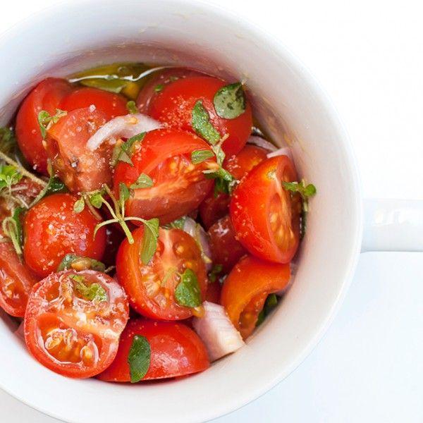Tomatsalat med frisk oregano