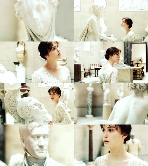 Loved this scene when she sees his statue. I wonder if Matthew Macfadyen got to keep it afterwards?