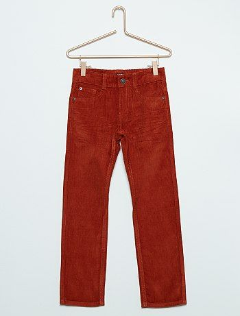 Pantalon en pur coton ORANGE Garçon - Kiabi