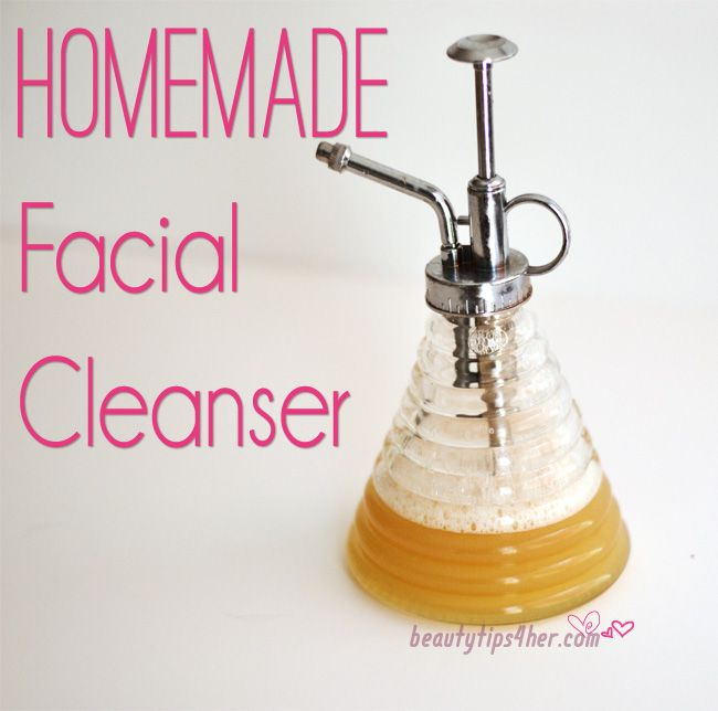 cleanser facial homemade