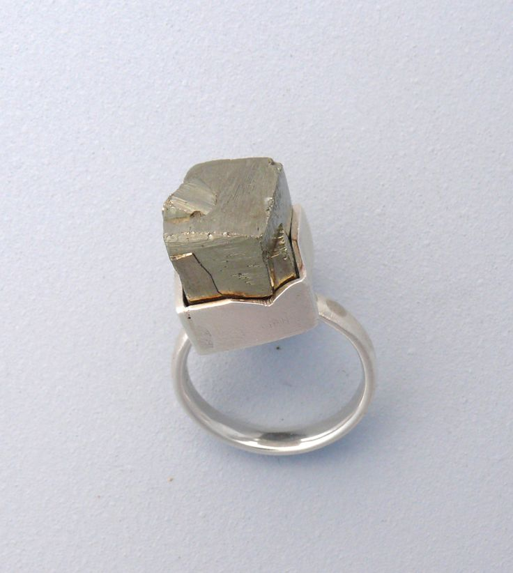 Chunky Pyrite Ring- Sterling Silver, pyrite. Sharon Cornthwaite - CARDOG DESIGN