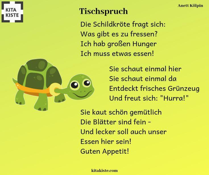 Tischspruch mit #schildkröte – lustig und etwas umfangreicher
