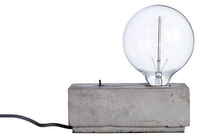 Bordslampa Betong Rektangulär